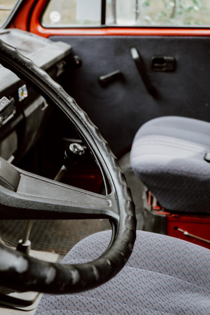 interior of a car that was implicated in forfeiture