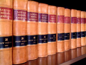 row of legal books that the best columbus ga possession lawyer reads