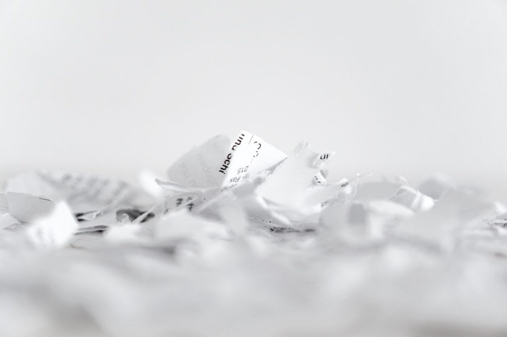 shredded paper with your charge erased after Wadkins & Wallace helped you with expungement in georgia