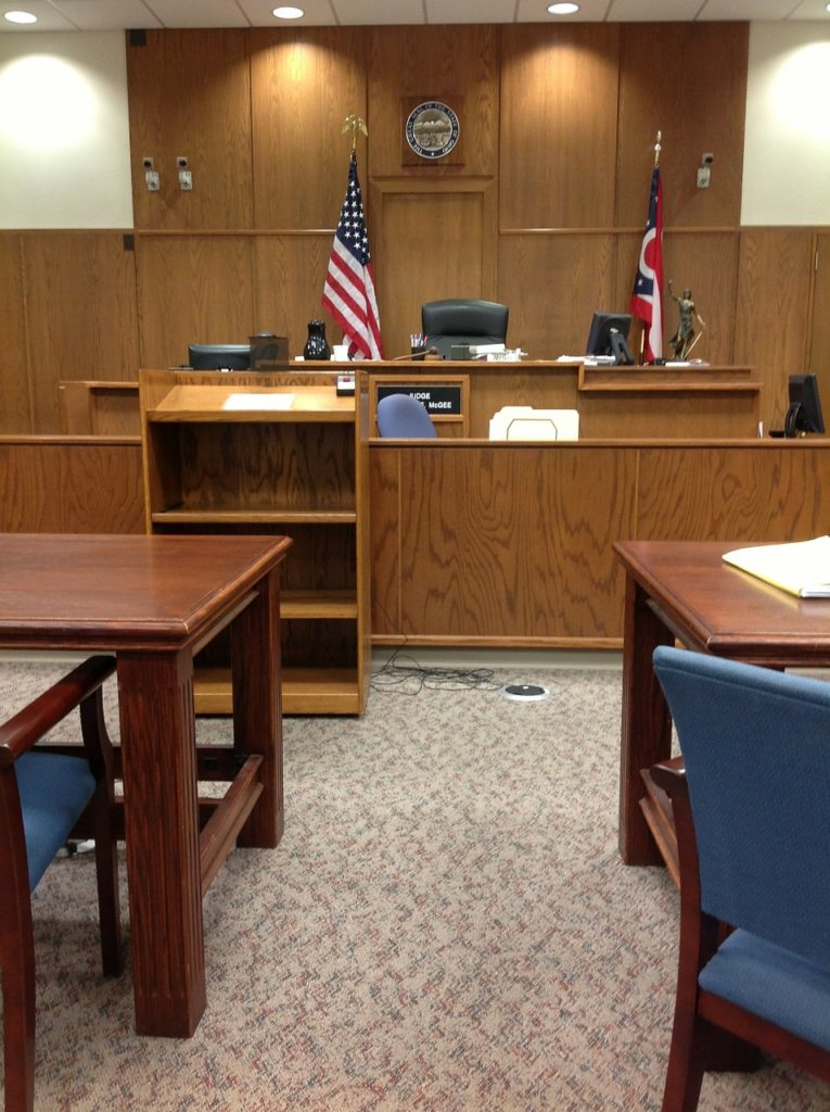 courtroom set up for calendar call where the best georgia attorneys are representing you